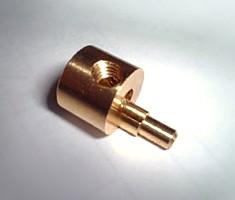 真鍮3604偏芯部品<br /> 2段偏芯+横穴+横穴タップ加工